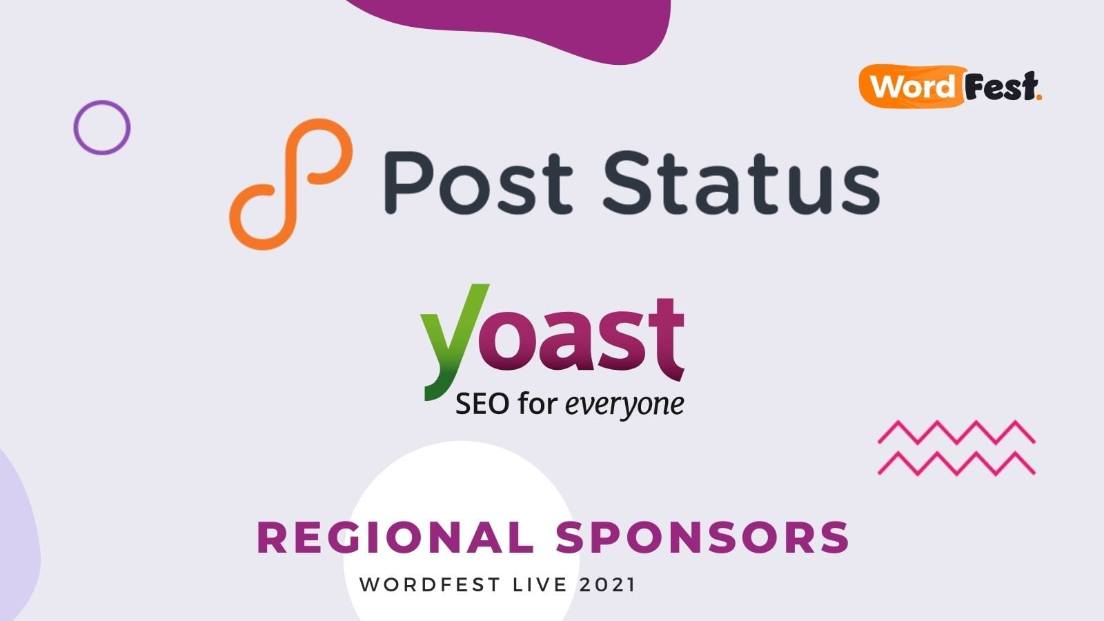 WordFest Live 2021 Sponsors - Post Status & Yoast