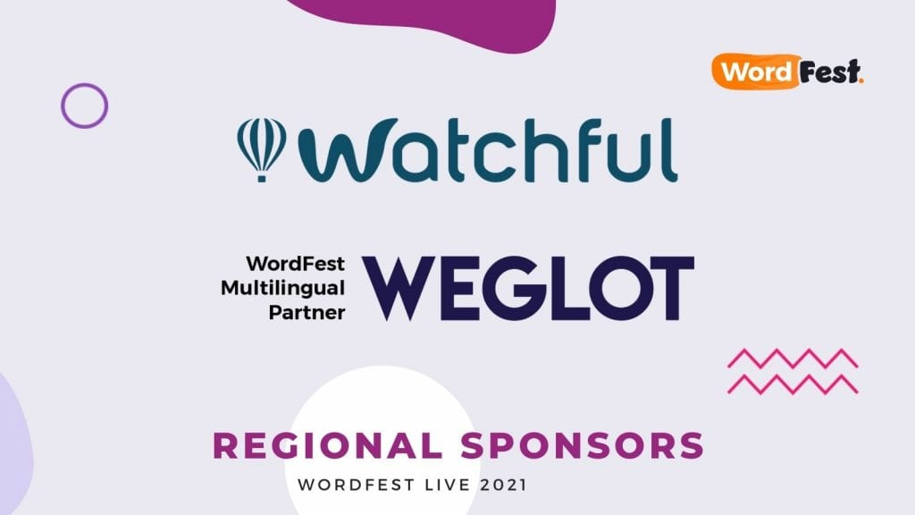 WordFest Live 2021 Sponsors - Watchful and Weglot