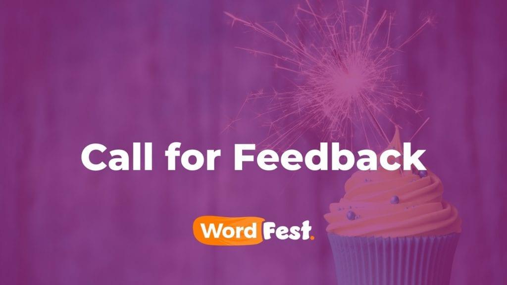 WordFest Live 2021 - Call for Feedback