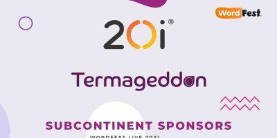 WordFest Live 2021 Sponsors - 20i & Termageddon